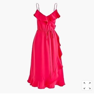Pink J. Crew Ruffle Dress